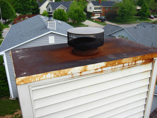 Chase Cover Before - Indian Summer Chimney Services