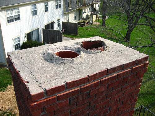 Masonry Services Before - Indian Summer Chimney Services